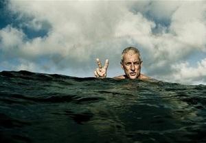 Superfish swimmer hero.